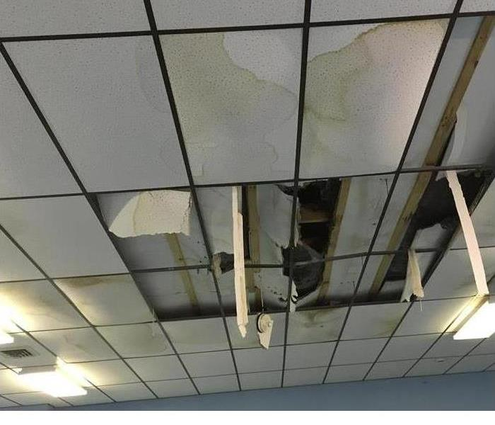 Ceiling suffered from Storm Damage