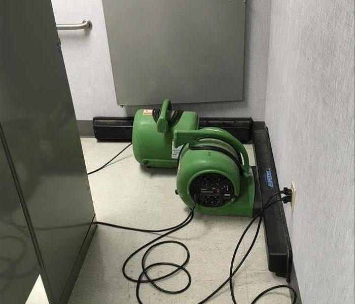 Air Movers After Commercial Water Loss