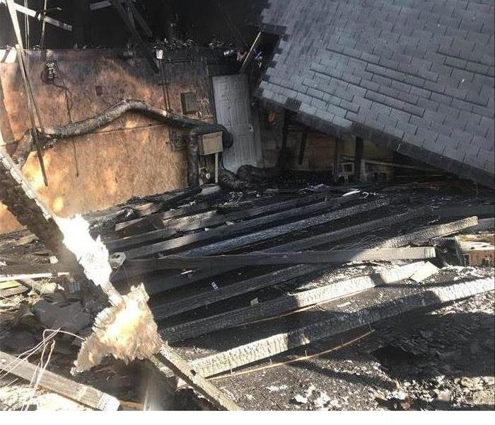 Home suffering from Fire Damage