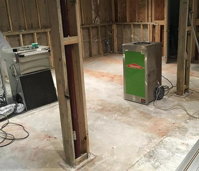 SERVPRO equipment in a home.